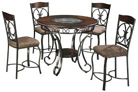 Hamlyn Dining Room Set by Glambrey Round Counter Table And 4 Barstool Set With Metal Accents