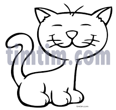 free drawing of cat 1bw from the category pets timtim com