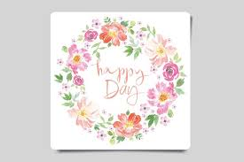 set of watercolor greeting cards card templates creative market