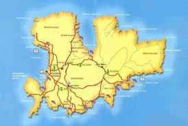 Map Of Santorini Greece by Mykonos Map Map Of Mikonos Island Roads Beaches Ano Mera