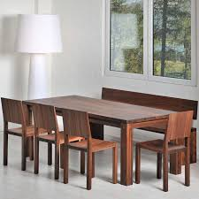 contemporary dining table solid wood rectangular extending