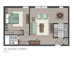 One Bedroom Floor Plan Home With Open Floor Plans Duplex Apartment Plan Singular View One