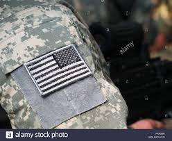 Military Flag Patch Us Army Uniform Element Sleeve Patch With Flag And Machine Gun