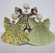 krafting with karen folded designer paper angels paper craft