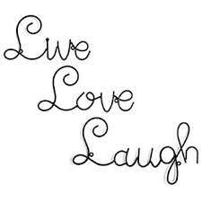 live love laugh amazon com huji metal wall art live love laugh wall mount decor