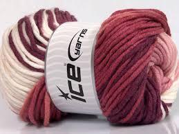 batik chunky white pink shades maroon at ice yarns online yarn store