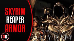 the elder scrolls v skyrim daedric reaper armor mod youtube