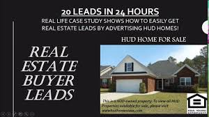 advertising hud homes to get buyer leads youtube
