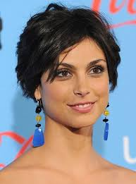 razor cut hairstyles gallery morena baccarin layered short black crop cut hairstyles weekly