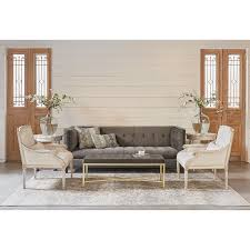 joanna gaines fabric tailored tuxedo styled sofa with velvet fabric by magnolia home by