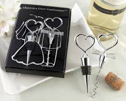 wine stopper wedding favors bottle stopper and corkscrew wine set wine favors and