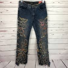 dillons floral roberto cavalli roberto cavalli floral laser cut bootcut