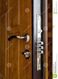 door handles triple cylinders new high security lock installed