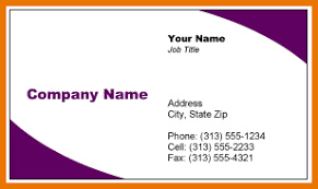 ms word business card template printing for less business card