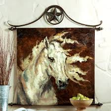 white horse oil painting wall hanging western decore pinterest
