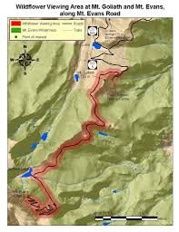 Map Of Colorado Springs Area by Mt Goliath Mt Evans