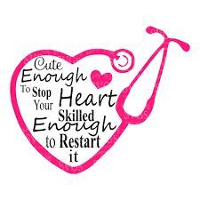 nurse quote gifts svg cute enough to stop your heart nurse quote emt quote