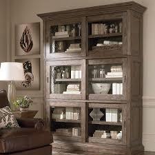 Home Emporium Cabinets Grey Brown Triple Sliding Door Stack Unit