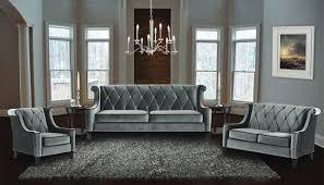 Green Velvet Tufted Sofa by Armen Living 3 Piece Barrister Velvet Sofa Set Usa Furniture