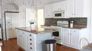 How To Install Peel And Stick Tile Backsplash by Installing Peel And Stick Stone Aspect Tiles White Lace Cottage