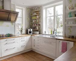 Black And White Kitchen Decor by Kitchen Fetching Modern L Shape Small Ikea Kitchen Decoration
