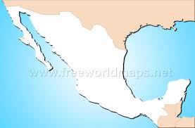 Map Mexico Outline Map Of Mexico 4407