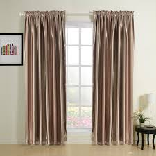 Noble Curtains 2017 Noble Modern Solid Stripe Rod Pocket Top Blackout Curtains