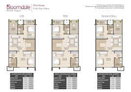 Row House Floor Plans Flats In Dahegaon Nagpur Mahindra Bloomdale Nagpur