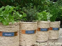 Potted Herb Garden Ideas Diy Cans Herb Garden Search Projects To Try Pinterest