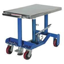 vestil low profile post lift table 1000 lb pt12 10 zoro com