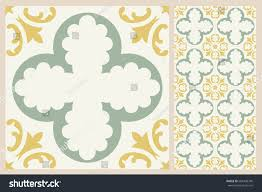 arabic patter style tiles wall floor stock vector 684308746