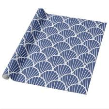 navy blue wrapping paper seashells wrapping paper zazzle