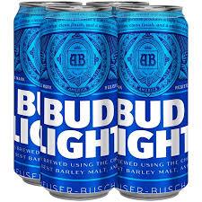 bud light can oz bud light beer 4 pk 16 fl oz cans walmart com