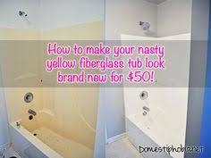 how to clean a plastic bathtub how to refinish your bathtub to take it from yellow and dingy to