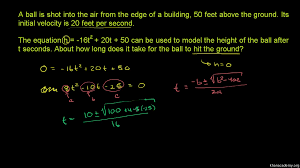 Hit The Floor Meaning - quadratic equations word problem algebra video khan academy