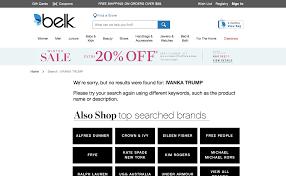 belk is the next department store to stop carrying ivanka trump