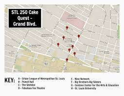 Stl Map Keeping Up With The Kiddos Stl 250 Cake Quest N Grand Blvd