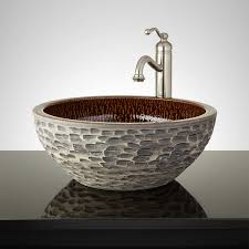 bathroom textured vessel sink signature hardware