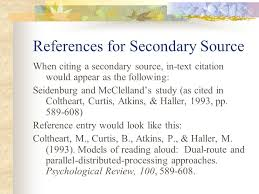 best ideas of how to cite secondary source in apa format with