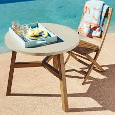 Tile Bistro Table Mosaic Outdoor Bistro Table Solid Concrete West Elm