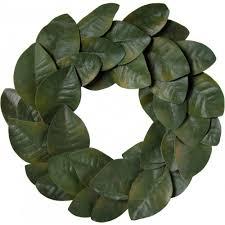 magnolia leaf wreath 20 magnolia leaf wreath green 36 leaves fg517609