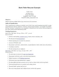 bank customer service resume sample example career objective for