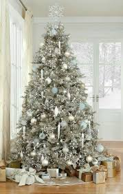 tree with white and silver decorations tree with