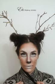 elle makeup artist halloween makeup deer doe eyes antlers