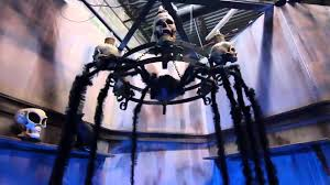 animated spider with long legs halloween prop haunted house yard