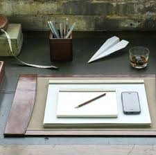 White Leather Desk Blotter Desk 51 Gorgeous Leather Desk Pad Set In Black Leather Leather