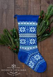 personalized wool blue nordic snowflakes