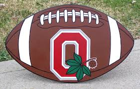 ohio state desk accessories wooden football sign u2014 crafthubs