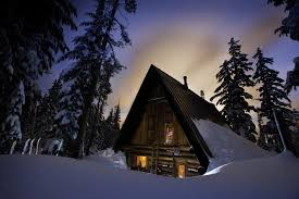 rustic ski in cabins in oregon and sw washington forests can be