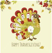 happy thanksgiving beautiful turkey card royalty free stock image